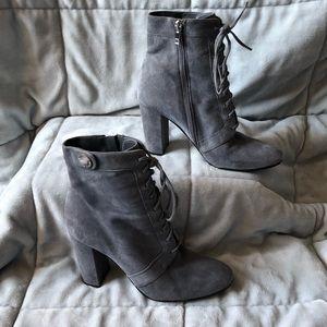 Ivanka Trump Grey Heel Boots Size 9